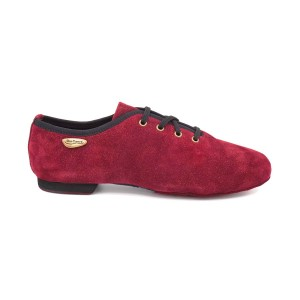 PortDance - Mujeres Jazz Sneakers PD J001 - Nubuck Bordeaux