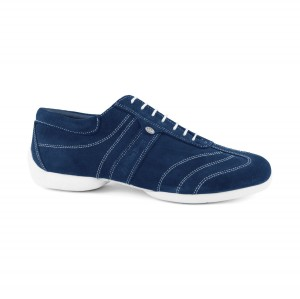 PortDance - Herren Sneakers PD Pietro Street - Nubuk Blau