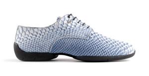 PortDance - Herren Dance Sneakers PD Salsa 001 - Leder Blau - Sneaker Sohle [EUR 43]