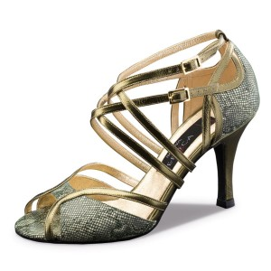 Nueva Epoca - Ladies Dance Shoes Penelope - Oliv/Copper