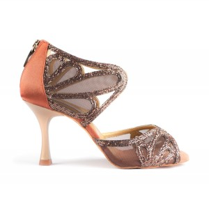 PortDance - Ladies Dance Shoes PD808 Pro Premium - Bronze