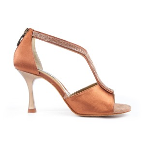 PortDance - Damen Tanzschuhe PD806 Pro - Satin Bronze