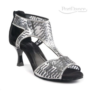 PortDance - Ladies Dance Shoes PD813 Pro - Silver/Black