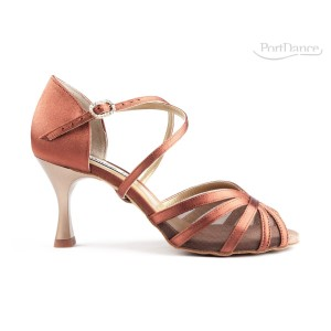 PortDance - Damen Tanzschuhe PD807 Pro - Satin Bronze
