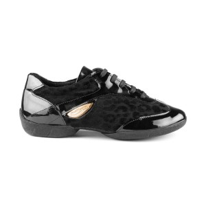 PortDance - Damen Dance Sneakers PD02 Fashion - Lack Schwarz