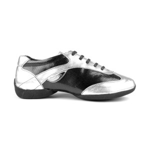 Portdance - Damen Dance Sneakers PD06 Fashion - Silber / Schwarz