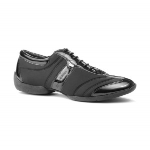 PortDance - Hombres Sneakers PD Pietro Premium - Charol/Lycra