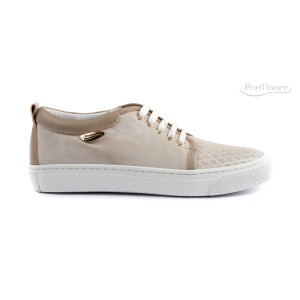 PortDance - Damen Sneakers PD962 - Leder Beige