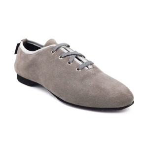 PortDance - Donne Jazz Sneakers PD J003 - Nabuk Grigio