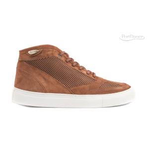 Portdance - Hommes Sneakers PD961 - Nubuck/Mesh Camel