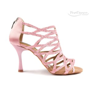 PortDance - Ladies Dance Shoes PD803 Pro - Pink Glitter