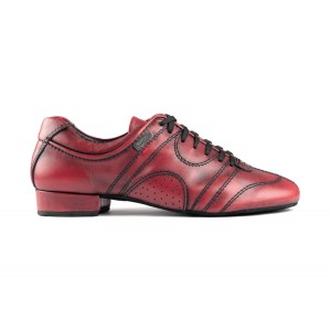 PortDance - Hombres Zapatos de Baile PD Casual - Bordeaux