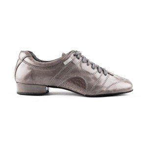 PortDance - Men´s Dance Shoes PD Casual - Leather Light Gray
