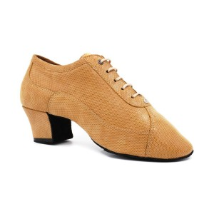 PortDance - Ladies Practice Shoes PD705 - Camel Suede