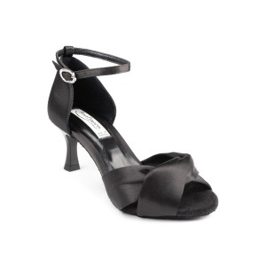 PortDance - Ladies Dance Shoes PD509 - Satin Black