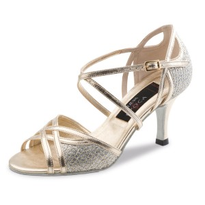 Nueva Epoca - Ladies Dance Shoes Rose - Leather Platinum