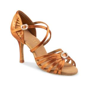 Rummos Ladies Latin Dance Shoes Elite Celine 048 with Rhinestones-Buckle