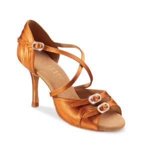 Rummos Ladies Latin Dance Shoes Elite Diana 048 with Rhinestones-Buckle