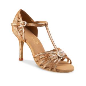 Rummos Ladies Latin Dance Shoes Elite Karina 168 with Rhinestones-Buckle