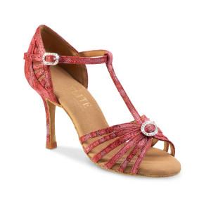 Rummos Ladies Latin Dance Shoes Elite Karina 205 with Rhinestones-Buckle