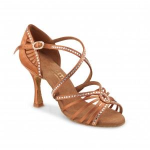 Rummos Ladies Latin Dance Shoes Elite Luna 048S with Rhinestones