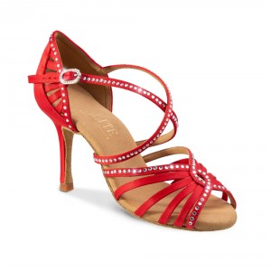 Rummos Ladies Latin Dance Shoes Elite Luna 049S with Rhinestones