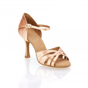 Rummos Damen Latein Tanzschuhe Elite Paris 043 - Satin Flesh