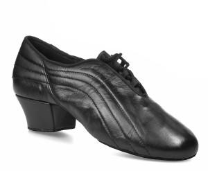 Rummos Hombres Latino Zapatos de Baile Elite Zeus 001 - Negro - 4,5 cm