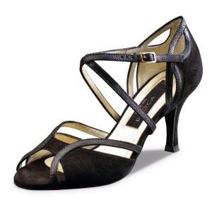 Nueva Epoca - Ladies Dance Shoes Shakira - Black Suede