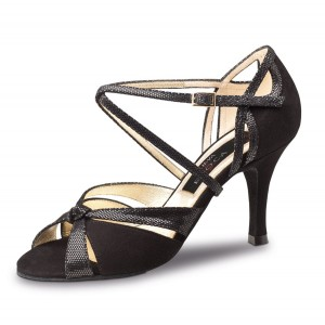 Nueva Epoca - Ladies Dance Shoes Sienna - Black Leather