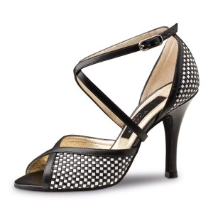 Nueva Epoca - Ladies Dance Shoes Simona - Leather Black/White