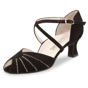 Werner Kern - Ladies Dance Shoes Sonia - Black Suede