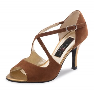 Nueva Epoca - Ladies Dance Shoes Tessa - Suede Maroon