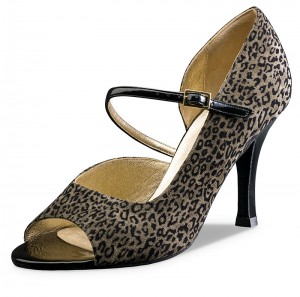 Nueva Epoca - Ladies Dance Shoes Teresa - Suede Leopard
