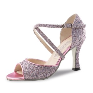 Werner Kern - Ladies Dance Shoes Alina - Brocade Pink