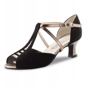 Werner Kern - Ladies Dance Shoes Holly - Black Veloursleder