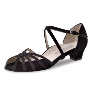 Werner Kern - Femmes Chaussures de Danse Tomke - Suède Noir