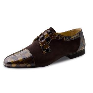 Werner Kern - Hombres Zapatos de Baile 28049 - Cuero Marròn
