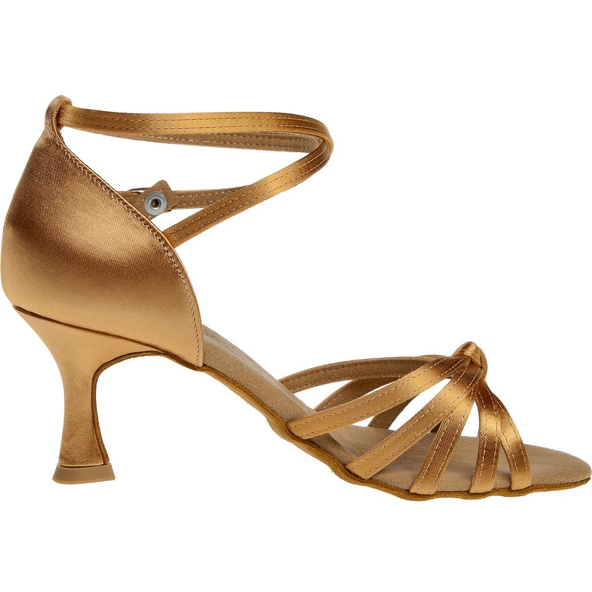 Tanzschuhe Modell 018 087 087 S | beige Satin | Sandalette