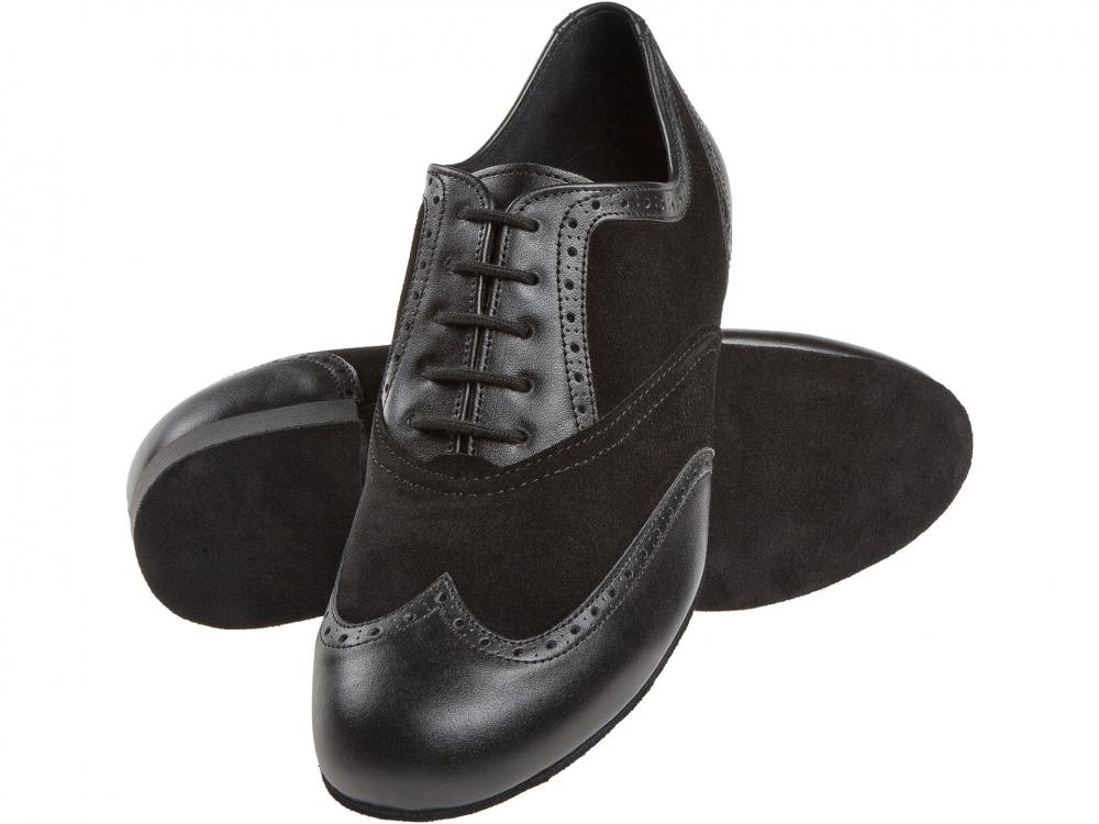 Su/ède//Cuir Noir Made in Germany Confort - 2 cm Standard Large Diamant Hommes Chaussures de Danse 177-025-070