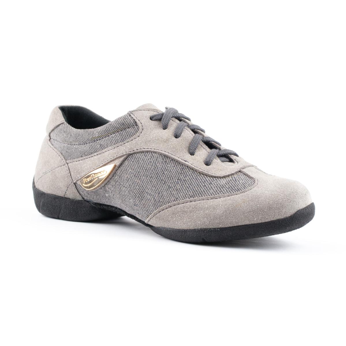 uk availability 0e40f 8da52 PortDance - Ladies Dance Sneakers PD07 Fashion - Denim/Suede